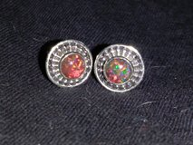 Beautiful Fire Opal Earrings 925 in DeRidder, Louisiana