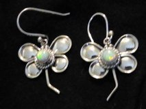 BEAUTIFUL Dragonfly Opal Earrings 925 in DeRidder, Louisiana