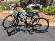 Women's and Men's Huffy Mountain Bikes in Excellent Condition in Oceanside, California