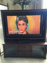 "*** 50"" SANYO FLAT SCREEN SMART TV with SOLID WOOD ENTERTAINMENT CENTER *** in Tacoma, Washington"