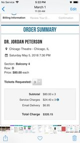 3 tickets Dr Jordan B Peterson in Joliet, Illinois