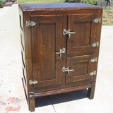 Vintage Oak Icebox w/Original Nickel Plated Brass Hardware in Camp Pendleton, California