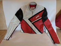 Motorbike Jacket Polo - Ladies or teenager (small size 50 M). Red, white and black leather in Heidelberg, GE