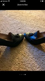 Lands End Black Leather Heels, Excellent Condition in Hampton, Virginia