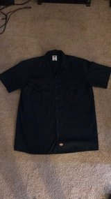 Men's Navy Dickies Short Sleeve Button Up Large in Hampton, Virginia