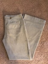 "Like New Women's Express Cream Colored Pants Size 8, Inseam 30"" in Hampton, Virginia"