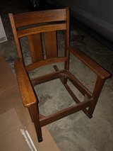 Antique Mission Arts and Crafts Oak Rocker in Cleveland, Ohio