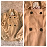 Like New Women's Old Navy Camel Wool Peacoat in Hampton, Virginia