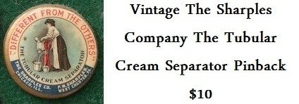 Vintage The Sharples Company The Tubular Cream Separator Pinback in Plano, Texas