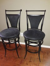 Black bar stools in need of some TLC in Spring, Texas
