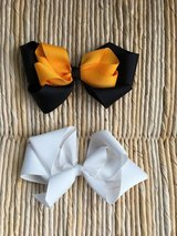 2 Larger Hair Bows: Steelers Yellow and Black + White in Plainfield, Illinois