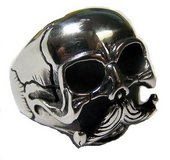 skull with mustache ring in Camp Lejeune, North Carolina