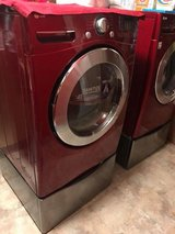 LG Front Load Washer and Dryer with Pedestals!!! in Fort Riley, Kansas
