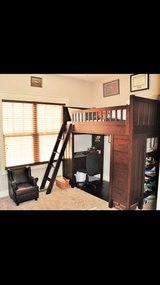 Pottery Barn Camp Twin Bunk Bed system and Twin Bed set in Fort Bragg, North Carolina