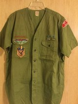 RARE Far East Boy Scout Commissioner's shirt 1957 in Okinawa, Japan