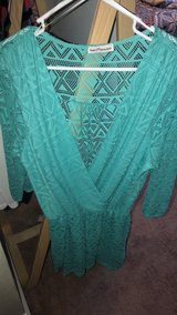 Turquoise half sleeve romper large in Fort Knox, Kentucky