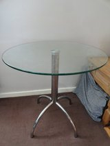 Glass chrome table in Lakenheath, UK