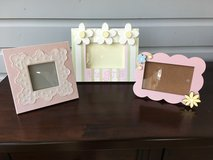 Set of 3 Decorative Picture Frames for Girl's Room (Pink Pastel Colors) in Naperville, Illinois