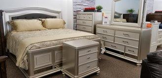 40% OFF THIS GORGEOUS 7PC KING BEDROOM GROUP! in Cherry Point, North Carolina