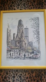 Berlin scene signed by German artist in Stuttgart, GE