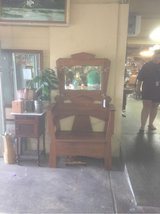 antique hall tree/bench in Spring, Texas
