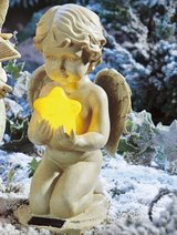 Solar LED Angel with Star in Ramstein, Germany
