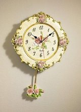 new Wallclock with roses in Ramstein, Germany