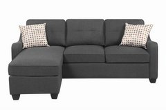 GREY REVERSIBLE MINI SECTIONAL FREE DELIVERY in Huntington Beach, California
