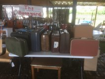 Fresh in new vintage suitcases in Spring, Texas