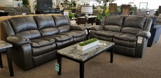 20% OFF THIS COMFY 2PC RECLINING SOFA AND LOVESEAT! in Cherry Point, North Carolina