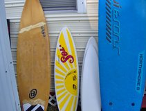 surfboards, surf sign, camping stuff, etc in Jacksonville, Florida