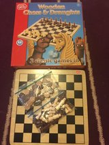 Wooden chess & draughts set. in Lakenheath, UK