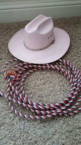 Cowboy hat and rope, child small in Warner Robins, Georgia