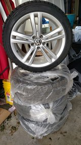 Set of 4, 18 inch VW alloy wheels with like new Bridgestone Blizzak winter tires. in Watertown, New York