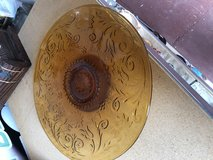 Vintage Tiara Pedestal Cake Plate 13th Amber Color in Warner Robins, Georgia