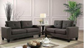 GREY 2pc SOFA SET FREE DELIVERY in Huntington Beach, California