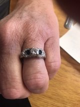 brilliant diamond and sapphire wedding ring in Las Cruces, New Mexico