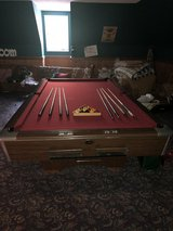Gandy 9' regulation pool table with accessories in Perry, Georgia