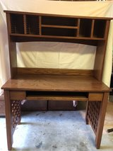 Home Office Furniture - Mission Style - 2 desks, hutch, filing cabinets and printer stand in Kingwood, Texas