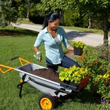 WORX Aerocart Multifunction 2-Wheeled Yard Cart, Dolly, and Wheelbarrow with Flat Free Tires – W... in Lockport, Illinois