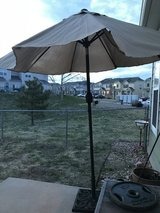 Outdoor umbrella and stand in Colorado Springs, Colorado