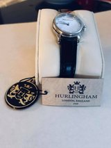 Ladies Black Leather Bling Dress Watch by Hurlingham in Nellis AFB, Nevada