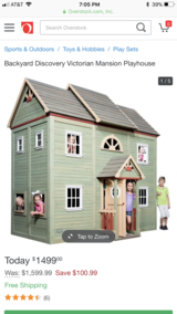 BRAND NEW in box gorgeous kids 2 story Victorian playhouse!!! in Bolingbrook, Illinois
