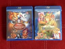 Unopened Aristocats + Robin Hood blu ray new in Okinawa, Japan