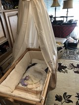 wooden baby swing  bed w/bedding ,cover in Ramstein, Germany