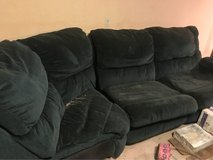 3 piece couch hide away bed in Fort Leonard Wood, Missouri