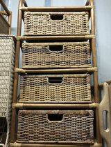 Vintage 4 Drawer Wicker bed stand in Okinawa, Japan