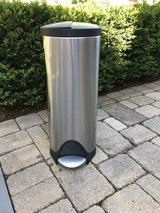 Simply Human Butterfly Lid / Step Trash Can - Brushed Stainless Steel in Naperville, Illinois
