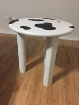 New Cow themed table in Kingwood, Texas