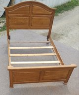 Solid Oak Full/Queen Size Bed Only in Fort Leonard Wood, Missouri